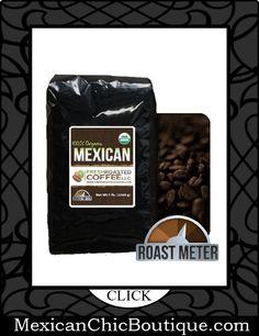 Mexican Coffee   Coffee   Cafe   Cafe Mexicano ♥ Organic Mexican Chiapas Coffee, 5 Lb. Bag, Whole Bean, Fresh Roasted Coffee LLC $35.99