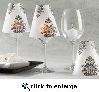 This wouldn't be too hard to make. Velum shades to turn a wine glass into a candle holder