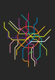 moscow metro line map 4'X6' by LiveitupS2 on Etsy, $1.50