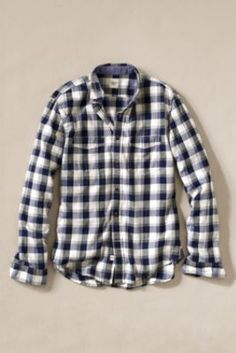 Men's+Club+Collar+Plaid+Workshirt+from+Lands'+End