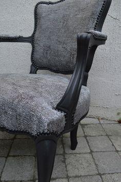 chic et moderne, fauteuil cabriolet en noir et argent