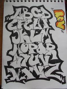 Graffiti Alphabet by replicamask - pinnervoir Graffiti Text, Wie Zeichnet Man Graffiti, Graffiti Writing, Urban Graffiti, Street Art Graffiti, Graffiti Alphabet Styles, Graffiti Lettering Alphabet, Graffiti Styles, Graffiti Wildstyle