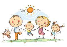 Portfolio di foto e immagini stock di Katerina Davidenko Cute Family, Happy Family, Happy Kids, Easy Drawings For Kids, Drawing For Kids, Art For Kids, Family Clipart, Family Vector, Kindergarten Drawing