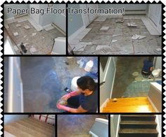 Paper Bag Flooring Instructions