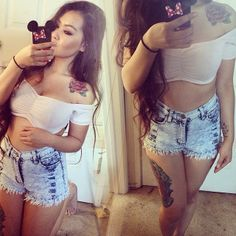 #OOTD by the gorgeous @michelleephan in our Bleached Angelic Highwaist shorts  They have been RESTOCKED