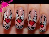 Valentines is fast approaching, bringing along the days of romance. Valentines day nail designs is one of the ways you can ensure that you. Great Nails, Cute Nail Art, Cute Nails, Angel Nails, Valentine's Day Nail Designs, Nail Art Supplies, Nail Technician, Creative Nails, Nail Stamping