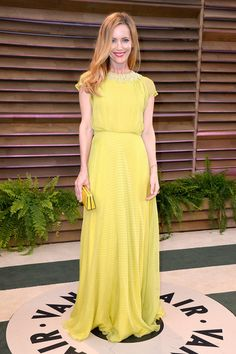 Leslie Mann in Jenny Packham @ 2014 Vanity Fair Oscar Party