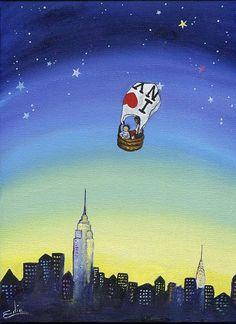 Print of I heart NY by edieart on Etsy Boy Art, Art Girl, Kids Prints, Art Prints, Kids Room Wall Art, I Love Ny, Elephant Art, Happy Art, Whimsical Art