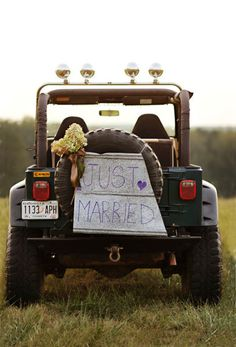 @Andrew Camp you know you & the other groomsmen are supposed to decorate anthony's truck, right? :)