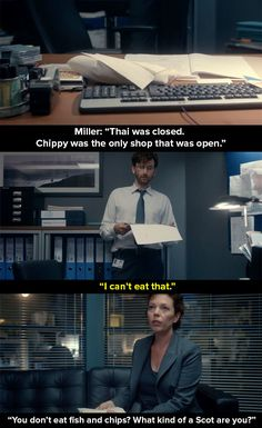 When Miller bought Hardy some fish and chips.