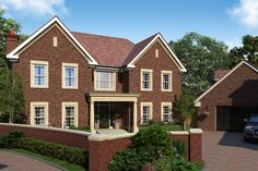 Newly built semi-detached luxury house. 5 bedrooms. Beautiful contemopry design. Located in Bournewood Grove, off Homefield Road, Warlingham, Surrey