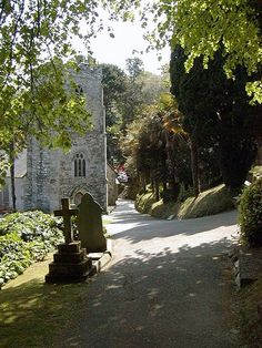 St Just in Roseland Church, Cornwall, is a very special 13th century church, with a 6th century Celtic heritage.