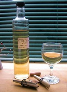 """Birch juice, either fresh or fermented - This """"elixir of life"""" is poured into a wooden barrel and sprinkled with grains of barley. The seeds sprout, creating a green cover, but the juice ferments with a special taste. Brown, fermented birch juice is a res"""