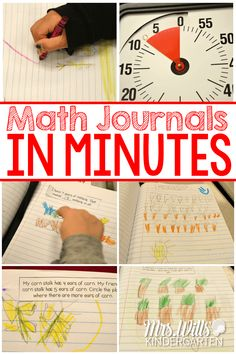Thinking about using kindergarten math journals in your classroom? This post shows how you can do a math journal activity in minutes! Kindergarten Journals, Kindergarten Math Activities, Homeschool Math, Teaching Math, Math Games, Homeschooling, Maths, Teaching Ideas, Preschool Activities
