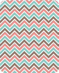 MINKY-Coral & Breeze Mini Zig Zag by Adorn It From Shannon Fabrics 1 Yard