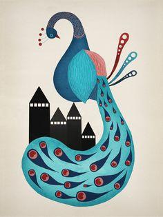 PEACOCK by Michelle Carlslund, via Behance