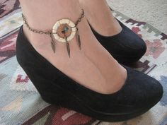 Hey, I found this really awesome Etsy listing at https://www.etsy.com/listing/98553489/dream-catcher-anklet-white-dreamcatcher