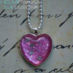 Pinkki glitteri tähtivyö sydän 20€