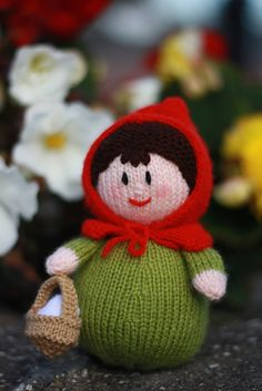Craft Passions: Little red riding hood..# free #knitting pattern l...
