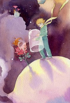 The Art Of Animation, Wanghe Little Prince Quotes, The Little Prince, Le Petit Prince Phrases, Prince Images, Watercolor Illustration, Cute Wallpapers, Creative Art, Concept Art, Art Drawings