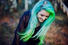 buzzfeed purple hair | to purple , but this bright blue with pops of green is giving purple ...