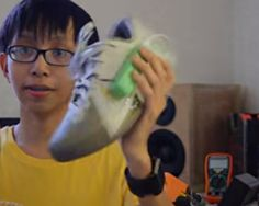 """A 15-year-old high school student, Angelo Casimiro, has come up with a way to harness the energy from one's footsteps and turn it into electricity to charge batteries for devices such as cell phones. He submitted his project, """"Electricity-Generating Footwear,"""" to this year's edition of Google Science Fair, which is """"a global online science and technology competition... Read more at http://www.technotification.com/2014/06/teen-invents-electricity-generating.html"""