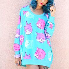 JapanLA Clothing: Dapper Chibi Cat Jumper, at 30% off!