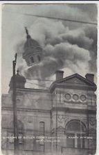 1912 HAMILTON Ohio Postcard FIRE Butler County Court House DISASTER A25