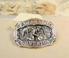 Silverton Colorado Belt Buckle | Etsy Vintage Silver, Vintage Men, Silverton Colorado, Panning For Gold, Metal Belt, Makers Mark, Belt Buckles, Silver Color, Silver Rings
