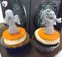 Doctor Who Cake and Cupcakes | Pandorica Opens Cake | Weeping Angel Cupcakes - by The Regali Kitchen