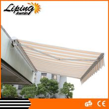 Customized size aluminum retractable folding canvas awnings for sale
