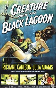 Creature From the Black Lagoon Movie Poster - Full Color Approx Measures: x Comes Rolled Movie Posters For Sale, Classic Movie Posters, Classic Horror Movies, Sale Poster, Poster Poster, Comedy Movies, Film Movie, Hindi Movie, Creature Movie