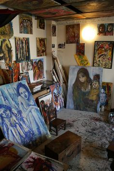 Inside artist's studio at 59 Rivoli, Paris