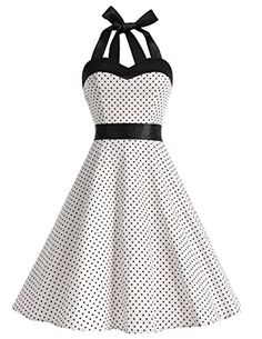 Vintage Cocktail Dress Rockabilly Polka Dots Audrey Retro Dress Zipper closure Dresstells is a registered brand and has our own Dresstells Tag and the D Rockabilly Mode, Rockabilly Outfits, Rockabilly Fashion, Pin Up Dresses, Cheap Prom Dresses, Pretty Dresses, Vintage Outfits, Vintage Dresses, Vintage Fashion