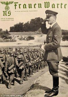 "Hitler on the cover of ""NS Frauen Warte"" magazine."