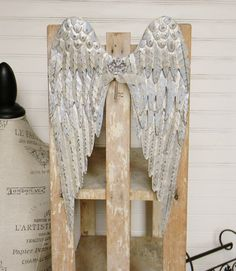 Metal Angel Wings Blue Angel Wings Metallic by ColorfulCastAndCrew