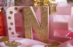 Pink and Gold Birthday Party Ideas | Photo 3 of 30 | Catch My Party