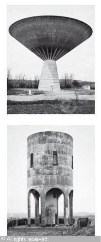 1) Watertower-Dole, Jura, 1984, 1999; 2) Watertower-Aywaille / Leige, B, 1980, 1999 sold by Phillips, New York, on Friday, November 11, 2005