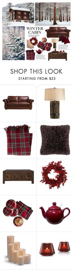 """Cozy Cabin Style"" by dezaval ❤ liked on Polyvore featuring interior, interiors, interior design, home, home decor, interior decorating, L.L.Bean, Mina Victory, Mark & Graham and Frontgate"