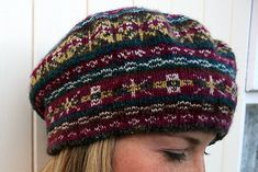 Ravelry: Fair Isle Tam pattern by Madeline Weston Vintage Knitting, Lace Knitting, Knitting Socks, Knitting Stitches, Knitted Hats, Knit Crochet, Crochet Hats, Crochet Granny, Knitting Projects