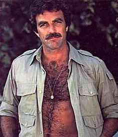 Young Tom Selleck.  All. Man.