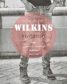 We are exhibiting in the 120th Canton Fair from Oct 31 - Nov 4 at our booth Hall 3.1H07 with our latest fashion jeans. Cant wait to see you guys there around.
