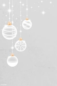 Christmas is fast approaching! Gold Christmas Tree, Christmas Baubles, Christmas Cards, Christmas Stickers, Winter Background, Gray Background, White Christmas Background, Wallpaper Backgrounds, Iphone Wallpaper