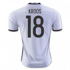 Tyskland 2016 Kroos 18 Hjemmedrakt Kortermet.  http://www.fotballteam.com/tyskland-2016-kroos-18-hjemmedrakt-kortermet.  #fotballdrakter