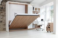 Space Saving Ideas for your Small Office Furniture Small Office Furniture, Folding Furniture, Multifunctional Furniture, Smart Furniture, Space Saving Furniture, Modular Furniture, Furniture For Small Spaces, Bedroom Tv Wall, Bed Wall