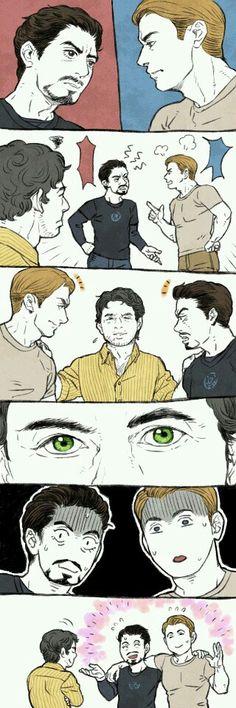 Tony Stark Steve Rogers & Bruce Benner XD