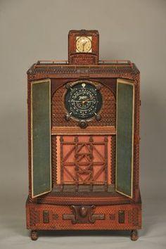 Tramp Art Radio Console, inside