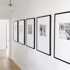 modern wall gallery in modern neutral hallway design, framed photos in hallway o. - modern wall gallery in modern neutral hallway design, framed photos in hallway or modern foyer wall -