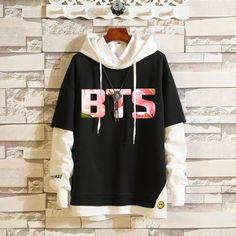 BTS kpop Love Yourself Harajuku Cap Sweatshirt Bangtan boys K-POP Clothes Hoody Kpop, Bts Hoodie, Bts Shirt, Hoodie Outfit, Kpop Outfits, Fashion Outfits, Fashion Ideas, Plus Size Hoodies, Bts Clothing
