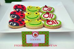 Perfect Party: Fiesta temática del Sapo Pepe - Garden Party Cata, Cookie Decorating, Baby Shower, Cookies, Desserts, Food, Amelia, Minis, Ideas